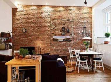 brick wall touch rustic industrial interior give diy interiors amazing walls decor internal indoor decore window exposed living area