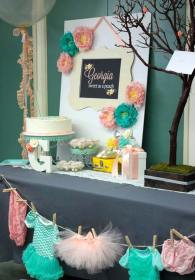 shower diy decorating decor cost low catchmyparty decorations decoration idea babyshower boy woohome theme table pink gifts babies colors clothes