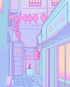 aesthetic anime pastel purple wallpapers backgrounds japan wallpaperaccess scenery