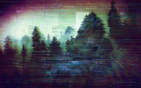 glitch vaporwave wallpapers background aesthetic desktop woods backgrounds cool hd march sad computer distorted 2024 1280 reddit forest vol abstract