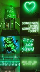 aesthetic wallpapers neon verde aesthetics collages collage verdes papel parede fondos glitch fundos
