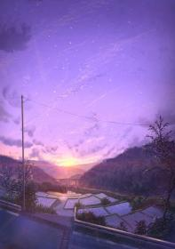anime sky landscape aesthetic wallpapers nature purple scenery artstation sunset backgrounds violet artwork wall animewallpaper kawaii cave awesome galaxy wallpapercave