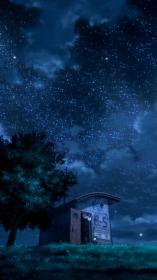 anime iphone cool night aesthetic dark wallpapers phone background scenery 4k backgrounds scenic sky awesome wallpaperaccess landscape starry pink 1080