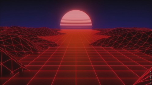 glitch aesthetic 4k wallpapers outrun cave