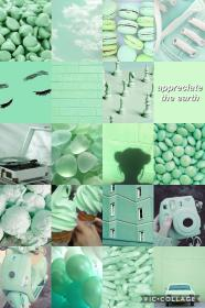 aesthetic iphone mint collage wallpapers pastel fondos verde retro backgrounds pantalla anime mintgreen parede paper hintergrund cave nature papel papeis