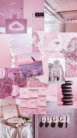 aesthetic pink wallpapers collage purple