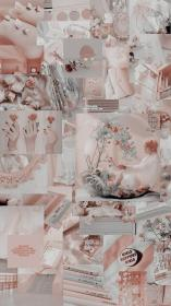 aesthetic wallpapers collage pink backgrounds fondos collages bts pastel pantalla peach visitar