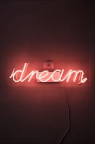 aesthetic wallpapers neon dream bright sign aesthetics baddie phones quotes lighting pink delightfull iphone lights backgrounds fond eu rouge background