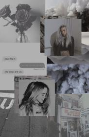 billie aesthetic eilish wallpapers gray lmao grey yep another please patient themed vsco again