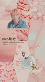 aesthetic jimin pink wallpapers collage