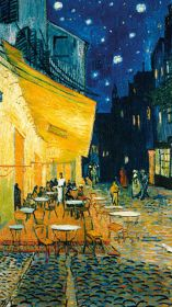 indie aesthetic wallpapers gogh iphone desktop backgrounds cafe hippie yellow vincent terrace paintings lockscreen night ipcwallpapers android arte fine pinturas