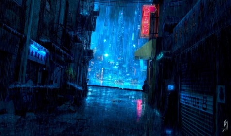 scenery anime dark background resolution rain desktop wallpapers similar category wallpapertag iphone android ipad
