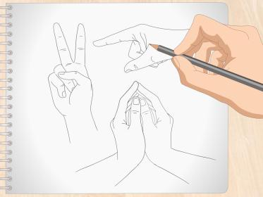 anime hands draw drawing wikihow steps step badminton