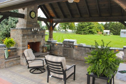 outdoor kitchen patio pavilion kitchens designs hardscape under grill fireplace roof pavilions landscaping fireplaces fire space designing hardscaping build