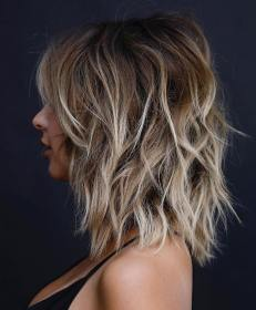 16 medium waves with blonde highlights Bf 7fT2BkDn