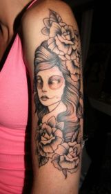 scary arm tattoo for lady