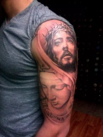tattoo tattoos mary christ virgin religious designs way journal spiritual meanings sleeves ribs shoulder left arresting inkdoneright source christian