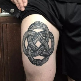 tattoo snake ouroboros death tattoos cycle unique around meaning goes designs comes cool hairstyles