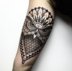 60 Owl Tattoo Design Ideas with Watercolor, Dotwork, and