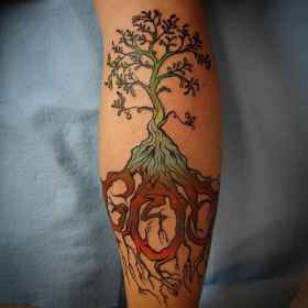 calf tattoos tattoo designs tatouage homme mollet calves pour tree tatoos arbre le related meaning words tatoo types cool trees