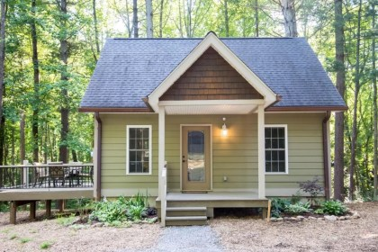 cottage forest tiny asheville woodland houses homes tinyhousetalk airbnb nc outside