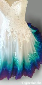dresses peacock dye gowns colorful rainbow coloring dip ombre taylor colors purple ann bridal ocean gown prom theme colored airbrushed