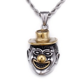 2019 traditional hot sales factory price mens and women unisex stainless steel clown pendant jewelry manufacturer HC306 2