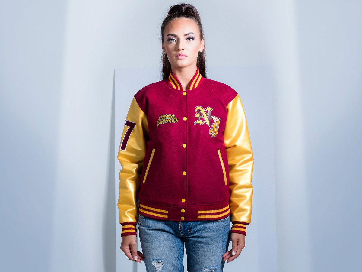 Custom Varsity Jackets Faux Leather Women Jackets Novo