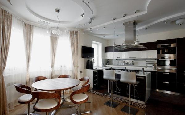 гостиная с эркером дизайн 7