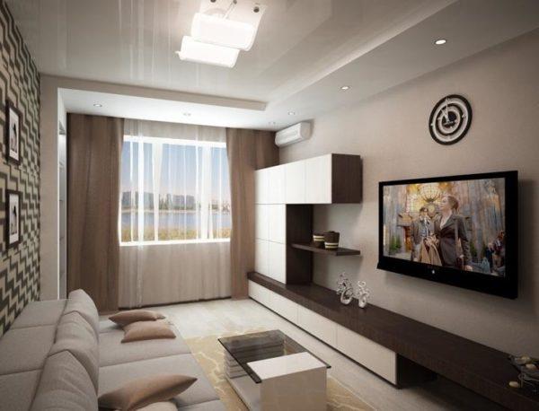 дизайн комнаты 18 квм в однокомнатной квартире фото 5