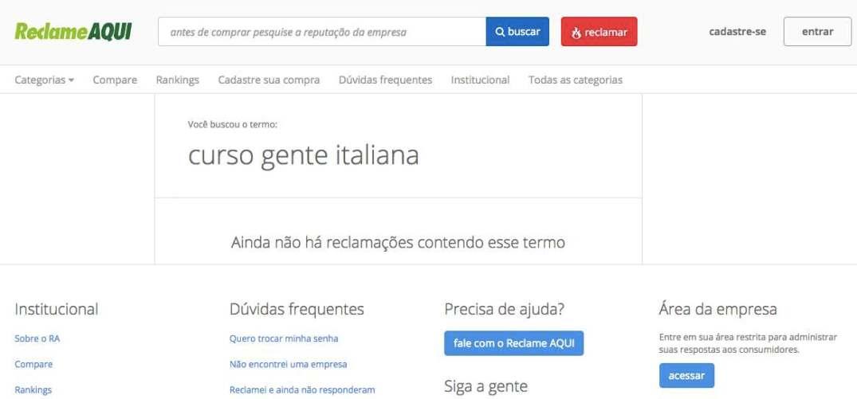 curso gente italiana reclame aqui