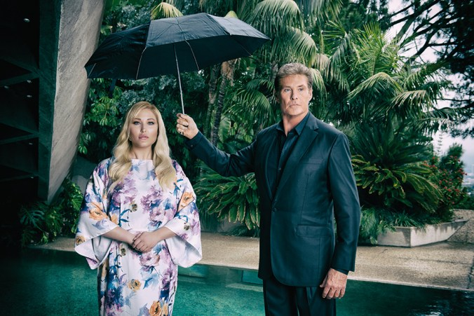 David and Hayley Hasselhoff 2015
