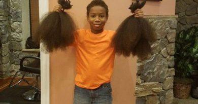 Хлопчик два роки відрощував волосся, щоб зробити перуку для онкохворої дівчинки