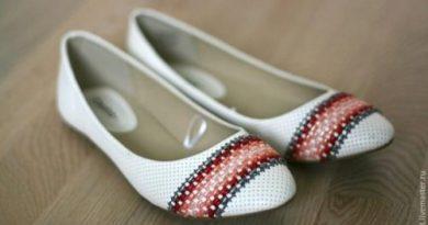 Обновляем балетки при помощи вышивки
