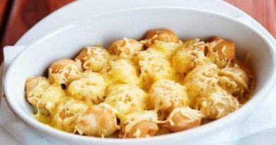 Пельмени, запеченные с сыром!