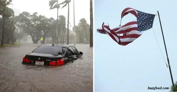 Смотрите, во что превратился Майами после урагана! Это ужасно!