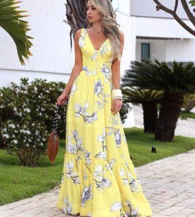 Стильные длинные платья на каждый день