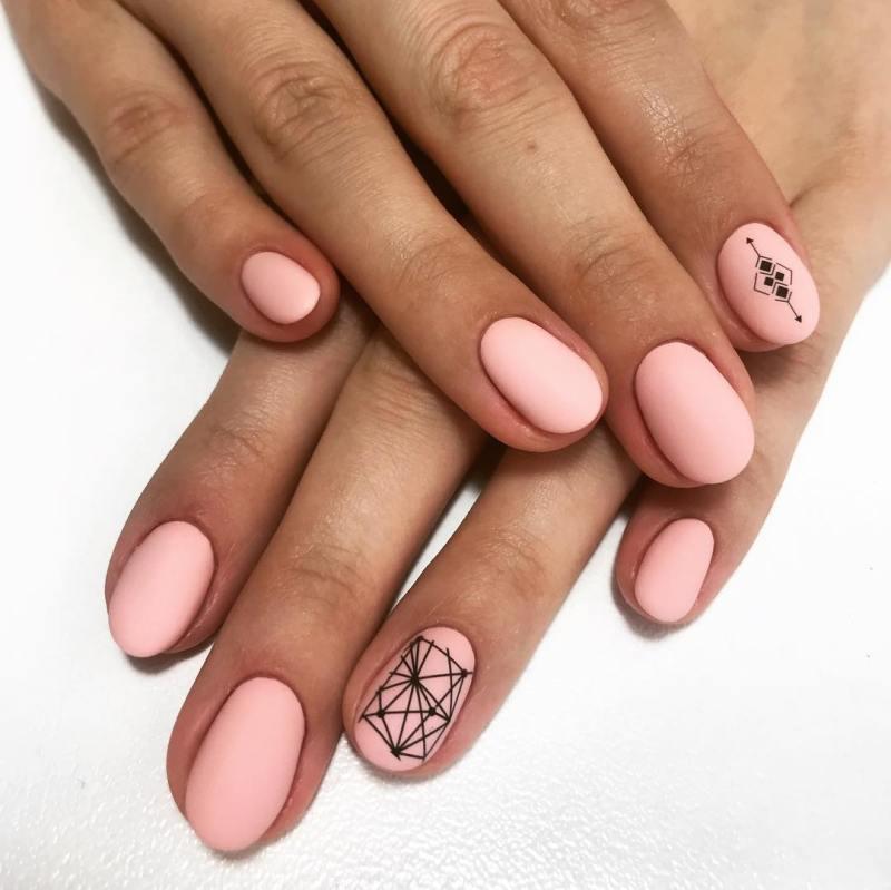 маникюр розовое золото фото_29