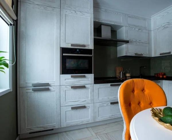 «Мандариновое настроение». Как вам интерьер этой кухни?? — Дом. Ремонт. Дизайн