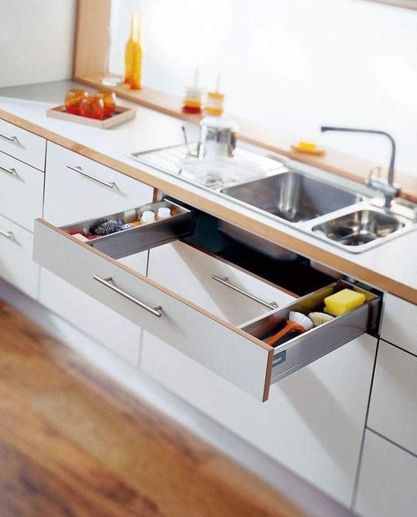Место под раковиной не должно пустовать! Крутые идеи организации для кухни