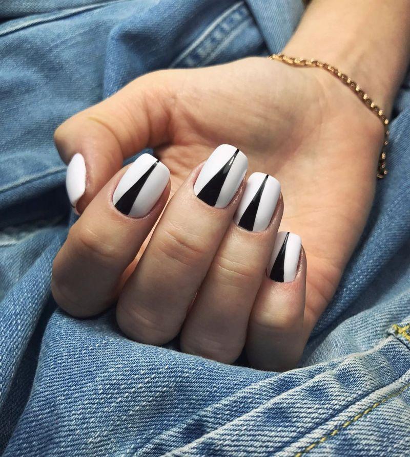 белые короткие ногти 2019_6