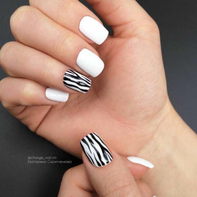 белые короткие ногти 2019_13
