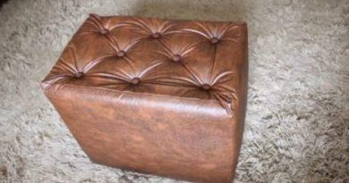 Прочный и красивый пуф из простых материалов