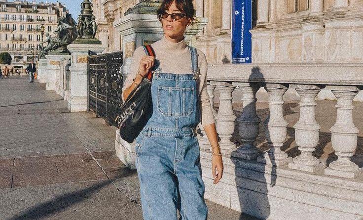 15 вариантов с чем носить летние джинсовые комбинезоны в 2019