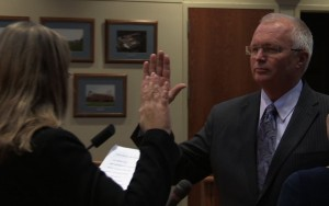 Wyoming Mayor Jack Poll sworn in for a second term.