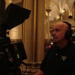 Long time WKTV volunteer, Doug Hansen runs camera.
