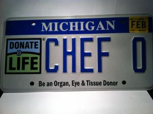 His license plate reminds us all to become an organ donor