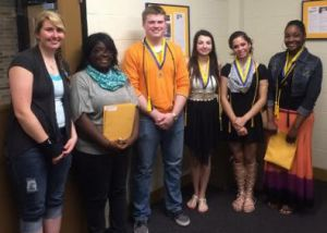 Golden G's scholarship winners were Katlynn Levian, Clemence Dusabe, Justin Roop, Alexis Gaertner, Rielle Walker and Taijhah Claybrook