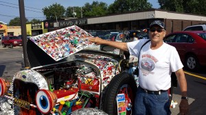 Robert Luczun and his Car-Toon Truck were sponsored by Marge's Donut Den. Even the engine is airbrushed.