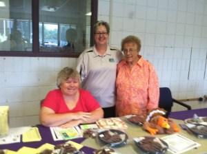 Lorraine Beloncis with senior volunteers at the Bake Sale.